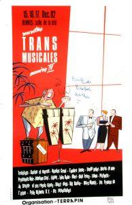Affiche Trans Musicales 1982 - lien vers la page de l'édition