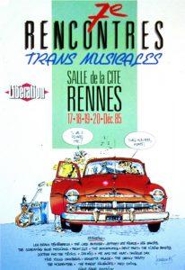 Affiche Trans Musicales 1985 - lien vers la page de l'édition